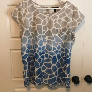 Ombré Animal Print Shirt